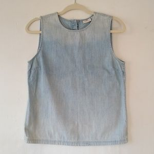 Adriano Goldschmied • chambray sleeveless blouse